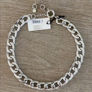 Something Navy chain collar necklace